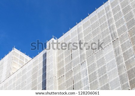 Old building renovation - stock photo