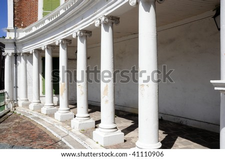 Old building with huge pillars