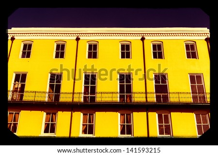 Old buildings in the French Quarter - stock photo