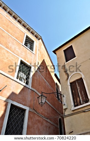 Old buildings in Venice, Italy - stock photo