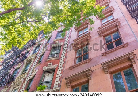 Old buildings of New york. - stock photo