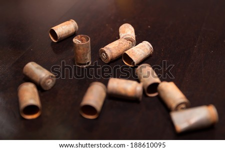 old bullet shells - stock photo
