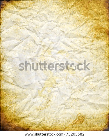 Old Burned-Rusty Paper Template - stock photo
