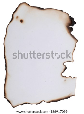 old burnt paper great as a background - stock photo