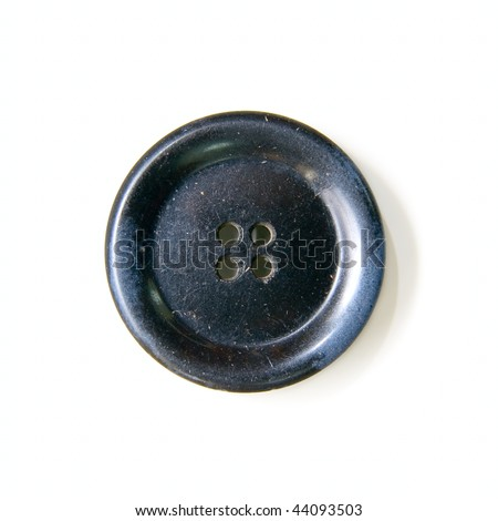Old button isolated on white - stock photo