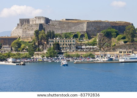 Old Byzantine fortress of Corfu town, Greece