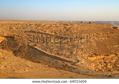 Old camel trail near Riyadh (Saudi Arabia) - stock photo