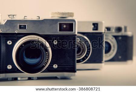 old camera background toning photo 1 - stock photo