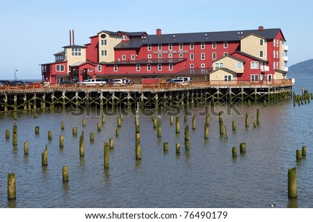 Old cannery hotel, Astoria OR. - stock photo