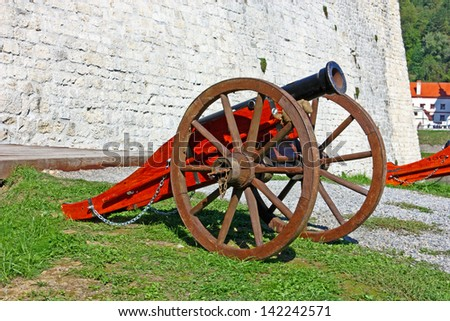 Old cannon on the eternal watch - stock photo