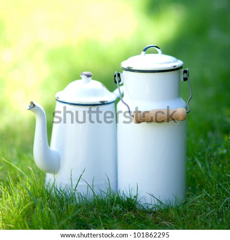 Old cans - stock photo