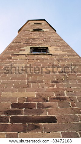 old cape henry lighthouse close up - stock photo