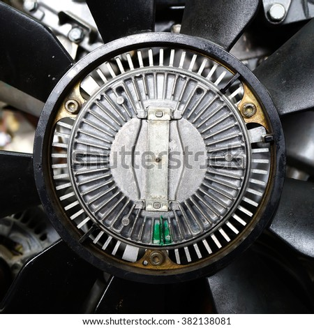 Old car engine part. - stock photo