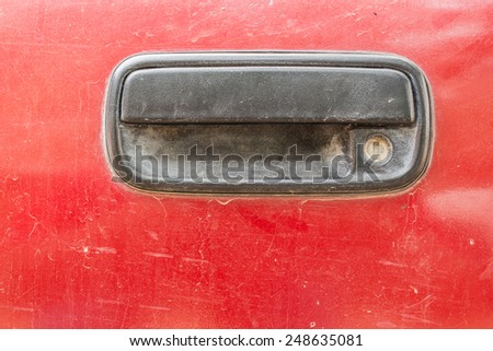 old car handle - stock photo
