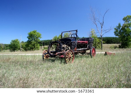 Old Car in A field