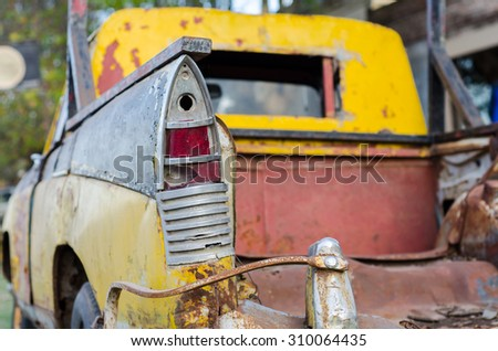 Old Car in Uribilarrea - Buenos Aires - Argentine - stock photo
