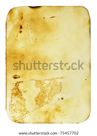 Old card isolated over the white background - stock photo