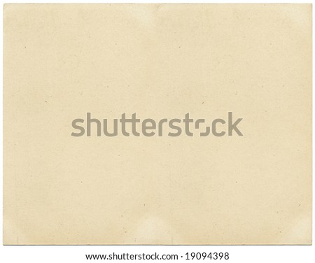 Old card stock paper with subtle stains and spots. - stock photo
