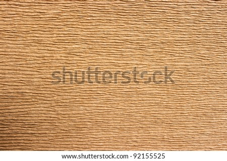 Old cardboard with corrugated pattern - stock photo