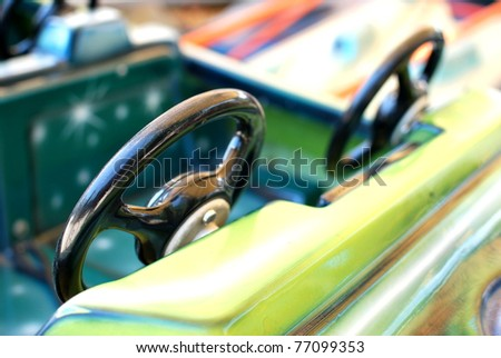 Old Cars  - Details of an ancient carroussel