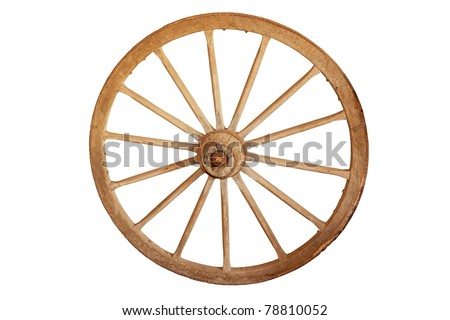Old cartwheel - stock photo