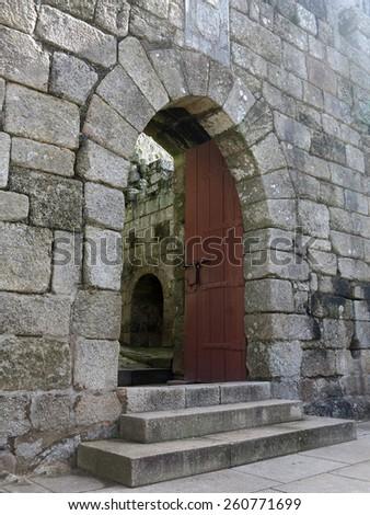 old castel in santa maria da feira, portugal - stock photo