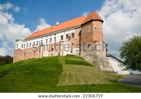 Old castle from 14th century in Sandomierz, Poland. - stock photo
