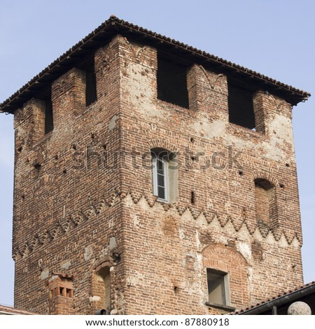 old castle in lombardy