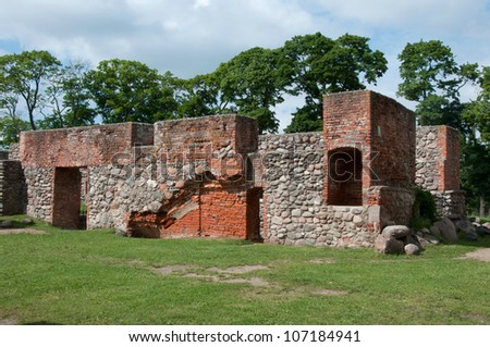 old castle in poland - stock photo