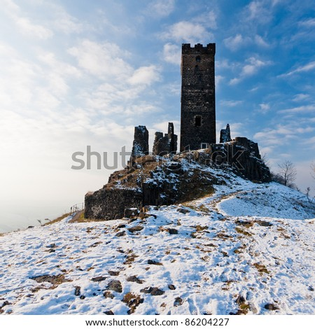 Old castle ruins - stock photo