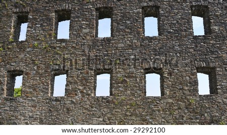 Old castle ruins of the medieval in germany - stock photo