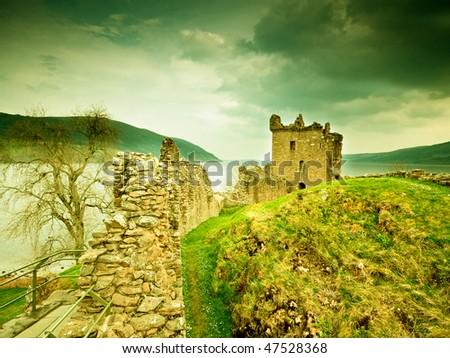 Old castle Scotland - stock photo