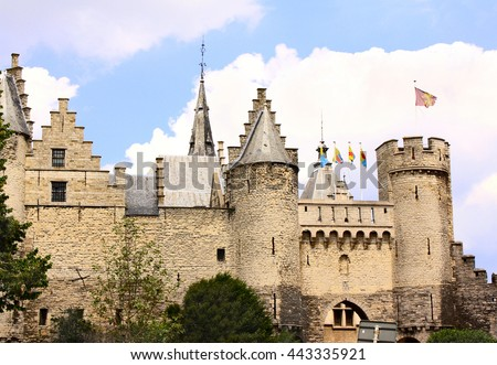 Old castle Steen in Antwerp, Belgium