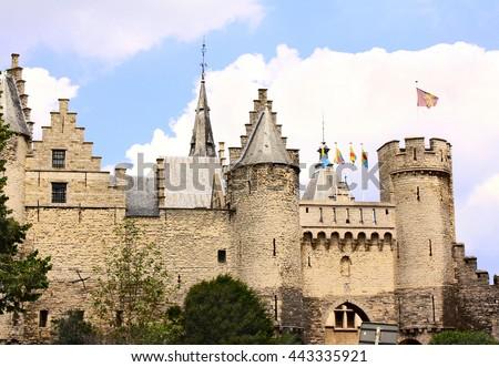 Old castle Steen in Antwerp, Belgium - stock photo