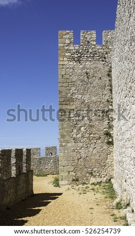 old castle with battlement made from rocks and stone with view over portugal sagres nature