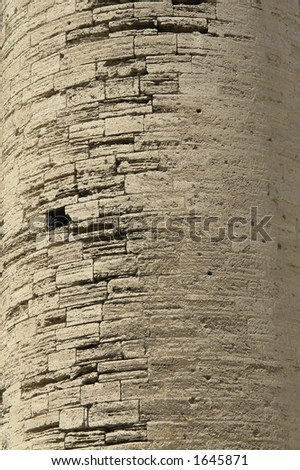 Old Cathedral of Monpellier wall. - stock photo