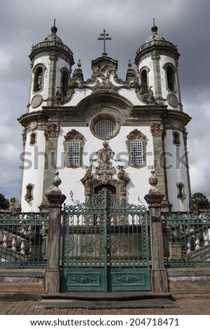 Old Catholic Church in Brazil - stock photo