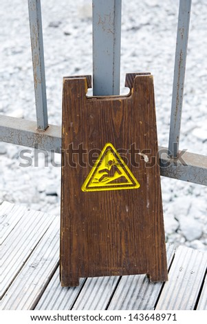 "Old ""caution wet floor"" signs - stock photo"