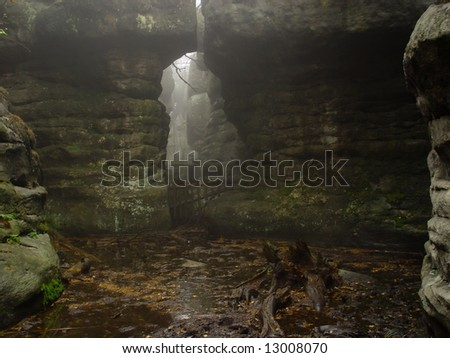 old cave - stock photo