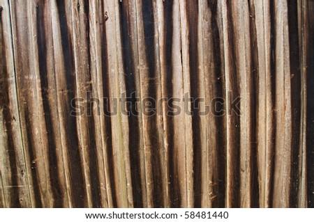 Old Cedar fence panel - stock photo