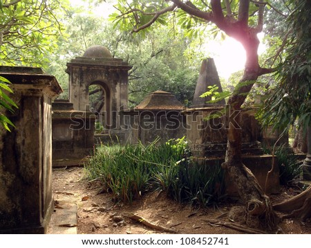 old cemetery - stock photo
