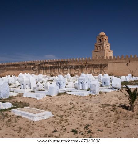 old cemetery, Tunisia - stock photo