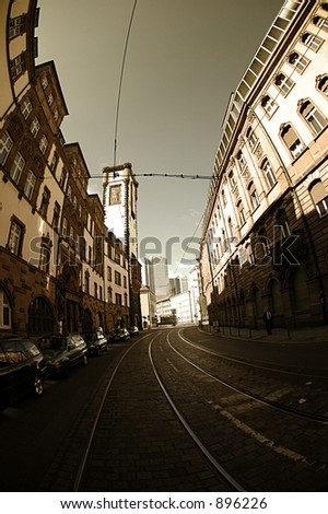 Old center, Frankfurt - stock photo