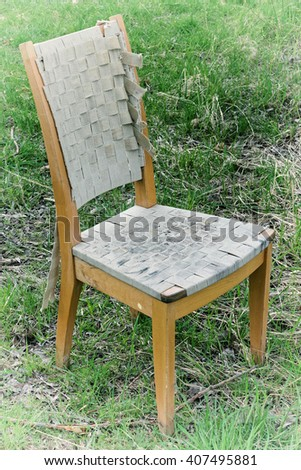 Old chair in a meadow