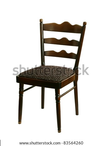 old chair isolated on white background - stock photo