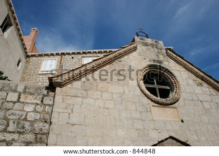 Old chapel in Dubrovnik, Croatia. - stock photo