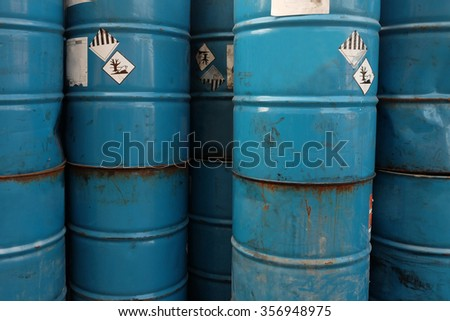 old  chemicals tank - stock photo
