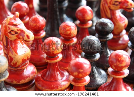 old chess  - stock photo
