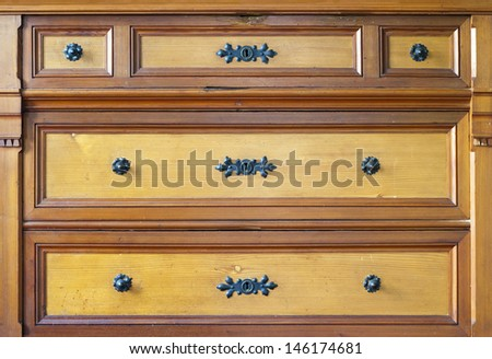 old chest of drawers - stock photo