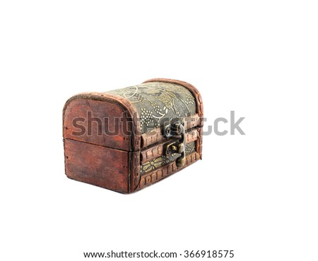 old chest on isolated background